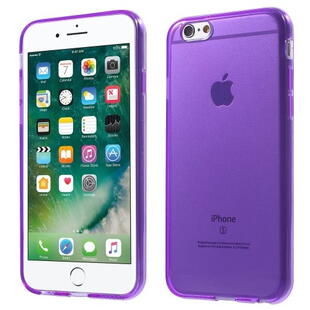 Glossy Surface TPU Gel Case til iPhone 6 / 6S - Transparent Lilla