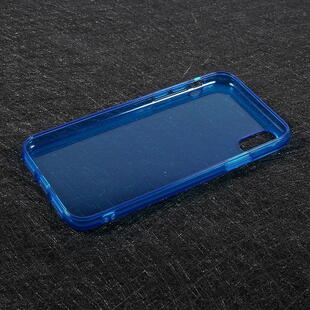 TPU Soft Back Cover for iPhone X Transparent Blue