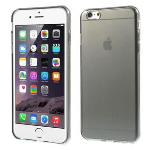 Glossy Surface TPU Gel Case for iPhone 6 Plus/6S Plus - Transparent Grey