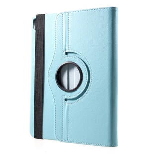 iPad Pro 11-inch (2018) Litchi Grain Leather Cover with 360 Degree Rotary Stand - Baby Blue