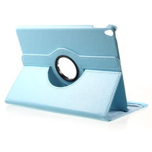 iPad Pro 10.5-inch (2017) Litchi Grain Leather Cover with 360 Degree Rotary Stand - Baby Blue