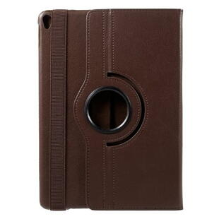 iPad Pro 10.5-inch (2017) Litchi Grain Leather Cover with 360 Degree Rotary Stand - Brown