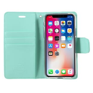 MERCURY GOOSPERY Sonata Diary Case for iPhone X / XS Cyan