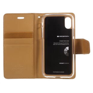 MERCURY GOOSPERY Sonata Diary Case for iPhone X / XS Brown