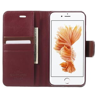 MERCURY GOOSPERY Sonata Diary Leather Case for iPhone 8 Plus/7 Plus Wine Red