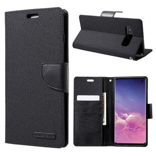 MERCURY GOOSPERY Canvas Diary Case for Samsung S10 - Black