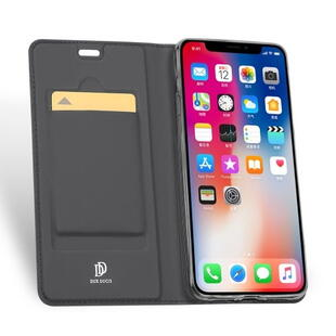 DUX DUCIS Skin Pro Flip Case for iPhone XS Max Dark Grey