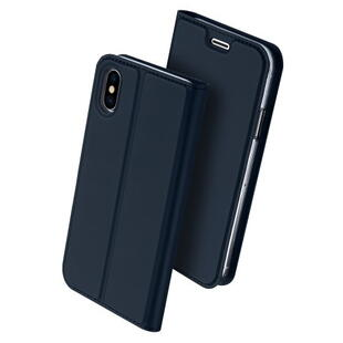 DUX DUCIS Skin Pro Flip Case for iPhone X / XS Dark Blue