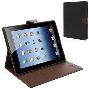 Mercury Goospery Fancy Diary Case for iPad 2/3/4 Brown