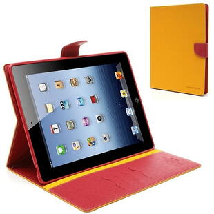 Mercury Goospery Fancy Diary Case for iPad 2/3/4 Yellow