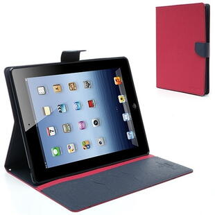 Mercury Goospery Fancy Diary Case for iPad 2/3/4 Rose