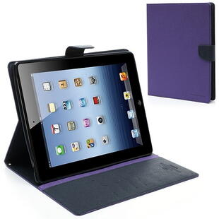 Mercury Goospery Fancy Diary Case for iPad 2/3/4 Purple