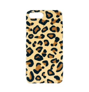Leopard Hair Hard Case for iPhone 7 Plus/8 Plus Dark