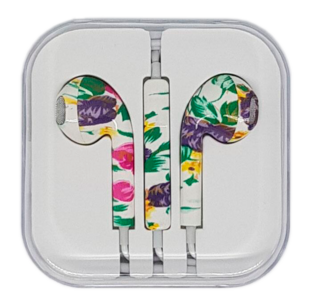 In-Ear Headset with remote/mic Rose Flower