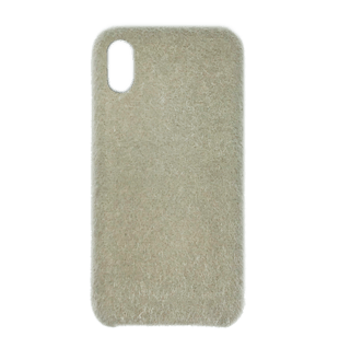 Horse Hair Hard Cover til iPhone XS MAX Hvid