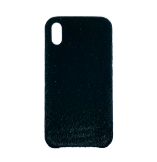 Horse Hair Hard Cover til iPhone XS MAX Sort