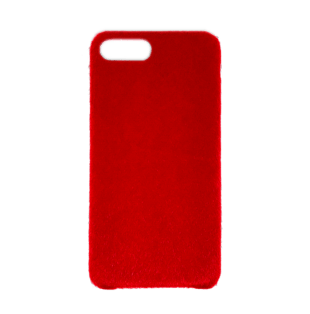 Horse Hair Hard Case for iPhone 7 Plus/8 Plus Red