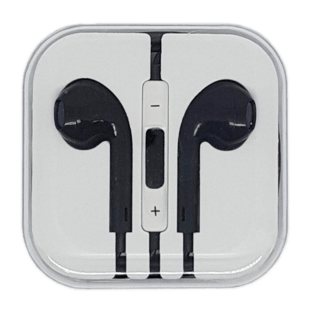 In-Ear Headset with remote/mic Black