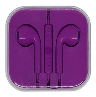 In-Ear Headset with remote/mic Purple