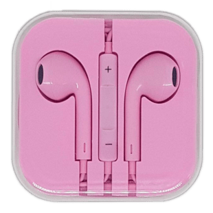 In-Ear Headset with remote/mic Pink