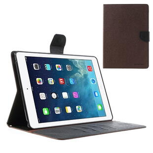 Mercury Goospery Fancy Diary Case for iPad Air - Brown/Black