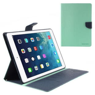 Mercury Goospery Fancy Diary Case for iPad Air - Cyan/Dark Blue