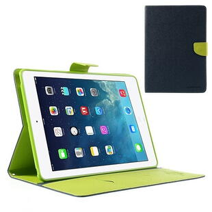 "Mercury Goospery Fancy Diary Case for iPad Pro 9.7"" - Dark Blue/Green"