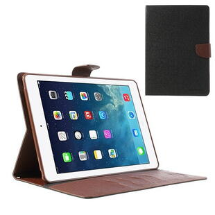 Mercury Goospery Fancy Diary Case for iPad Air - Black/Brown