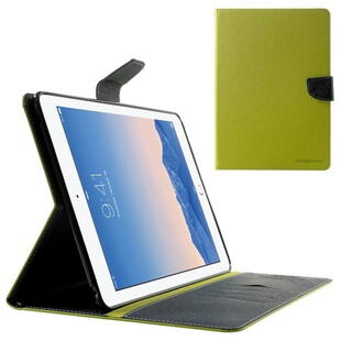 Mercury Goospery Fancy Diary Case for iPad Air 2 - Green/Dark Blue