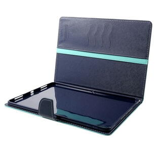 MERCURY GOOSPERY Wallet Leather Case for iPad Pro 12.9 (2. gen.) Cyan/Blå