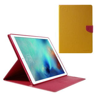 "Mercury Goospery Fancy Diary Case for iPad Pro 12.9"" (1. gen.)  Yellow/Rose"
