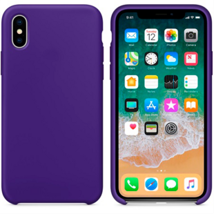 Hard Silicone Case for iPhone X Purple