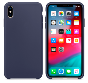 Hard Silicone Case for iPhone X Dark Blue