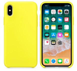 Hard Silicone Case for iPhone X Yellow