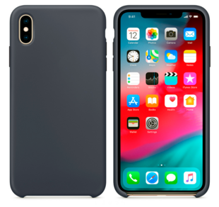 Hard Silicone Case for iPhone X Grey