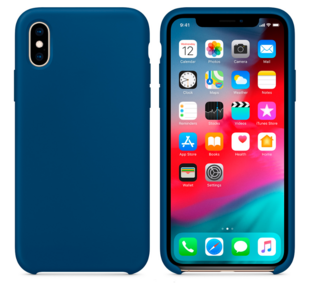 Hard Silicone Case for iPhone XR Blue