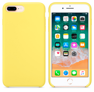Hard Silicone Case for iPhone 7 Plus/8 Plus Yellow