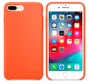 Hard Silicone Case for iPhone 7 Plus/8 Plus Orange