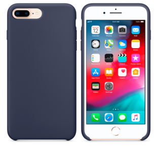 Hard Silicone Case for iPhone 7 Plus/8 Plus Dark Blue
