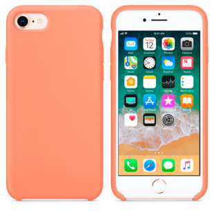 Hard Silicone Case for iPhone 7/8 Peach