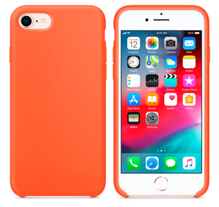 Hard Silicone Case for iPhone 7/8 Nectarine