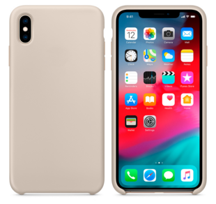 Hard Silicone Case for iPhone XS Stone