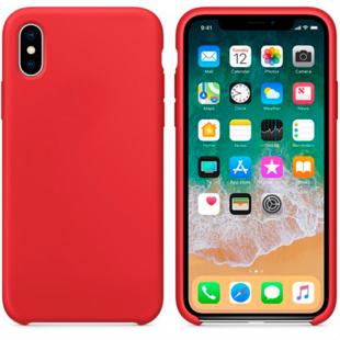 Hard Silicone Case til iPhone XS MAX Rød