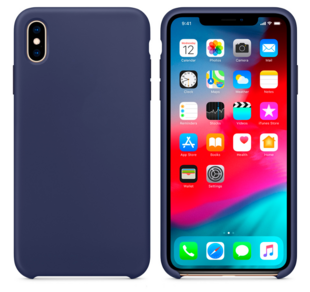 Hard Silicone Case for iPhone XS MAX Dark Blue