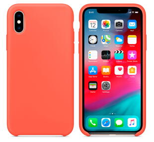 Hard Silicone Case for iPhone XS MAX Orange
