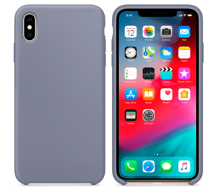 Hard Silicone Case til iPhone XS MAX Grå