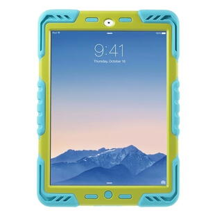 PEPKOO Spider Series for iPad Air 2 Green/Blue