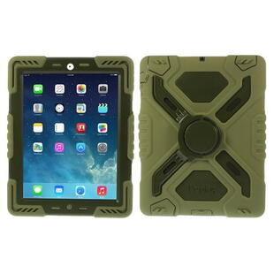 PEPKOO Spider Series for iPad 2/3/4 Army Green