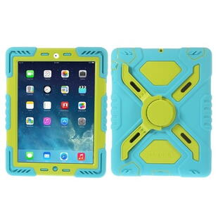 PEPKOO Spider Series for iPad 2/3/4 Green/Blue