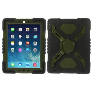 PEPKOO Spider Series for iPad 2/3/4 Army Green/Black